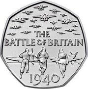 UK 50 Pence Battle of Britain 2015  THE BATTLE OF BRITAIN 1940 coin reverse