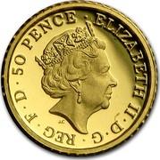 UK 50 Pence Britannia (Nautical Themed) 2015 ELIZABETH II D G REG F D 50 PENCE J.C coin obverse