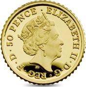 UK 50 Pence Modern Britannia 2017 Trident Proof ELIZABETH II D G REG F D 50 PENCE 2018 J.C coin obverse