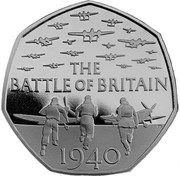 UK 50 Pence The Battle of Britain 2015 Proof THE BATTLE OF BRITAIN 1940 coin reverse