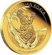 Australia 500 Dollars Australian Koala 2015 Proof AUSTRALIAN KOALA 2015 5OZ 9999 GOLD P coin reverse