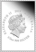 Australia 70c Anzac 2015 Proof ELIZABETH II AUSTRALIA 1/2 OZ 999 SILVER IRB coin obverse