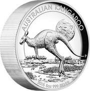 Australia 8 Dollars Australian Kangaroo 2015 Proof AUSTRALIAN KANGAROO 2015 5 OZ 999 SILVER P coin reverse