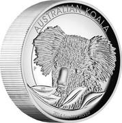 Australia 8 Dollars Australian Koala 2014 Proof AUSTRALIA KOALA 2014 5 OZ 999 SILVER P coin reverse
