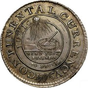 USA Continental Currency Dollar 1776 KM# EA2a CONTINENTAL CURRENCY FUGIO MIND YOUR BUSINESS EG FECIT coin obverse