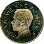 Canada Crown Edward VIII Token 1936 Proof X# 3 EDWARD VII KING E EMPEROR coin obverse