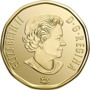 Canada Dollar Connecting a Nation 2017 BU ELIZABETH II D G REGINA SB coin obverse