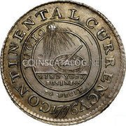 USA Dollar Continental Dollar 1776 KM# EA2a CONTINENTAL CURRENCY FUGIO MIND YOUR BUSINESS EG FECIT coin obverse
