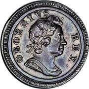 UK Farthing George I Pattern 1718 KM# PnF34 GEORGIVS ∙ REX∙ coin obverse