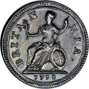 UK Farthing George I Pattern 1718 KM# PnF34 BRITAN NIA. 1718 coin reverse