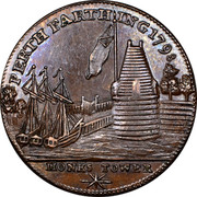 UK Farthing Perth - Monks Tower 1798  PERTH FARTHING 1798 MONKS TOWER coin obverse