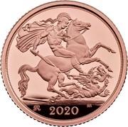 UK Half Sovereign Elizabeth II (5th portrait) 2020 George III Privy KM# 1331 2018 B.P. coin reverse