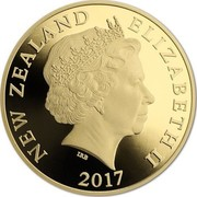 New Zealand Hundred and Fifty Dollars Taniwha 2017 Proof NEW ZEALAND ELIZABETH II 2017 IRB coin obverse