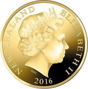 New Zealand One Dollar Hector's Dolphin 2016 NEW ZEALAND ELIZABETH II 2016 IRB coin obverse