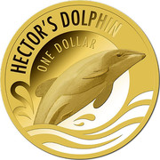 New Zealand One Dollar Hector's Dolphin 2016 HECTOR'S DOLPHIN ONE DOLLAR coin reverse