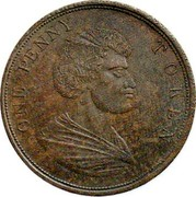 New Zealand Penny Wholesale and Retail Bakers Confectioners and Grocers ND ONE PENNY TOKEN coin reverse