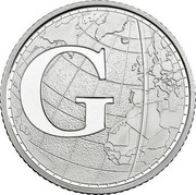 UK Ten Pence (G - Greenwich Mean Time) G coin reverse