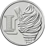 UK Ten Pence (I - Ice Cream) I coin reverse