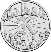 UK Ten Pence (K - King Arthur) K coin reverse