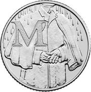 UK Ten Pence (M - Makintosh) M coin reverse