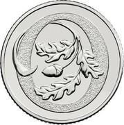 UK Ten Pence (O - Oak Tree) O coin reverse