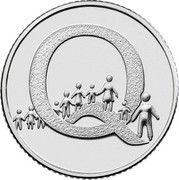 UK Ten Pence (Q - Queuing) Q coin reverse
