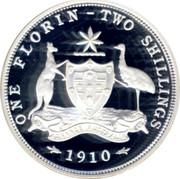 Australia Twenty Cents Masterpiece in 1910 Florin 1998 Proof ONE FLORIN TWO SHILLINGS 1910 ADVANCE AUSTRALIA coin reverse
