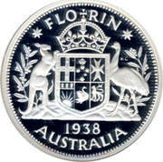 Australia Twenty Cents Masterpiece in 1938 Florin 1998 only in sets Proof FLO RIN K∙G 1938 AUSTRALIA coin reverse