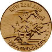 New Zealand Twenty Dollars XXIII Olympiad Los Angeles 1984 Proof X# 6 NEW ZEALAND TWENTY DOLLARS coin obverse
