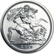 UK Twenty Pounds St. George And The Dragon 2013 BU 2013 B.P. coin reverse