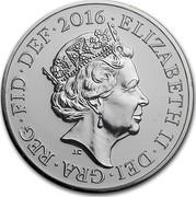 UK Twenty Pounds Welsh Dragon Celebration 2016 BU ELIZABETH II DEI GRA REG FID DEF 2016 J.C coin obverse