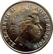 Australia Two Dollars XXI Commonwealth Games (Blue and Green) 2018 ELIZABETH II AUSTRALIA 2018 IRB coin obverse