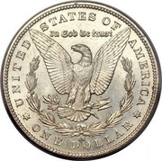 USA Dollar Morgan 1892 CC KM# 110 * UNITED STATES OF AMERICA * ONE DOLLAR * IN GOD WE TRUST coin reverse