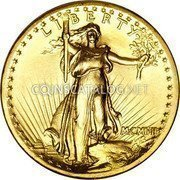 USA Twenty Dollars St. Gaudens Double Eagle - High relief 1907 MCMVII high relief, flat rim KM# 126 LIBERTY MCMVII coin obverse