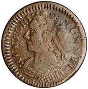 USA Connec 1787 KM# 3.3 Connecticut Coppers ∙ AUCTORI ∙ ∙ CONNEC coin obverse