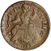 USA Connec 1787 KM# 3.3 Connecticut Coppers ∙ IN DE ET LIB ∙ coin reverse