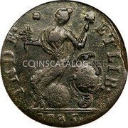 USA Cent Connecticut African Head 1785 KM# 2 INDE: * * ETLIB: coin reverse