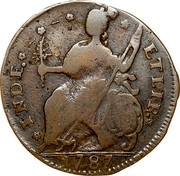 USA Connfc. 1787 KM# 8.6 Connecticut Coppers * INDE. * * * * ETLIB. * coin reverse