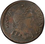 USA Copper 1787 KM# 11 Nova Eboracs * NOVA * EBORAC * coin obverse
