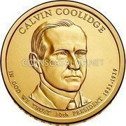 USA Dollar Calvin Coolidge 2014 D KM# 572 CALVIN COOLIDGE IN GOD WE TRUST 30TH PRESIDENT 1923-1929 coin obverse