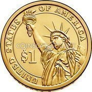 USA Dollar Franklin D. Roosevelt 2014 D KM# 574 UNITED STATES OF AMERICA $1 coin reverse