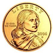 USA Dollar Sacagawea 2006 D Satin Finish KM# 310 LIBERTY IN GOD WE TRUST coin obverse