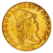 USA Eagle Liberty Cap - Ten dollars 1798/97 7 stars left, 6 right KM# 30 LIBERTY DATE coin obverse