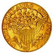 USA Eagle Liberty Cap - Ten dollars 1798/97 7 stars left, 6 right KM# 30 UNITED STATES OF AMERICA E PLURIBUS UNUM coin reverse