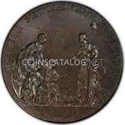 USA Half Penny Company of Upper Canada 1796 KM# Tn86 BRITISH SETTLEMENT KENTUCKY. coin obverse