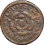 USA Halfpenny 1722 KM# 3 Rosa Americana ROSA • AMERI • VTILE • DVLCI coin reverse
