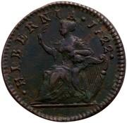 USA Halfpenny 1722 KM# 23.2 Hibernia ∙ HIBERNIA ∙ coin reverse