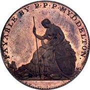 USA Myddelton Token 1796 KM# Tn85 PAYABLE BY P ∙ P ∙ P ∙ MYDDELTON. coin obverse