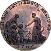 USA Myddelton Token 1796 KM# Tn85 BRITISH SETTLEMENT KENTUCKY. coin reverse