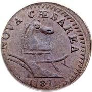 USA Nova Caesarea New Jersey 1787 KM# 12.1 NOVA CAESAREA coin obverse